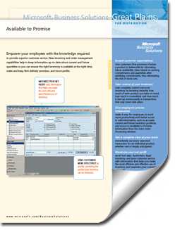 Dynamics-GP-Available-to-Promise-Fact-Sheet-thumb Supply Chain Management Solutions