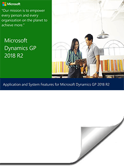 GP-R2-2018-1 What's New in Microsoft Dynamics GP 2018 and Dynamics GP 2018 R2