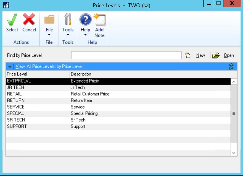 Price-LevelsEDITED Dynamics GP Inventory Control Module Interface with Medical Systems
