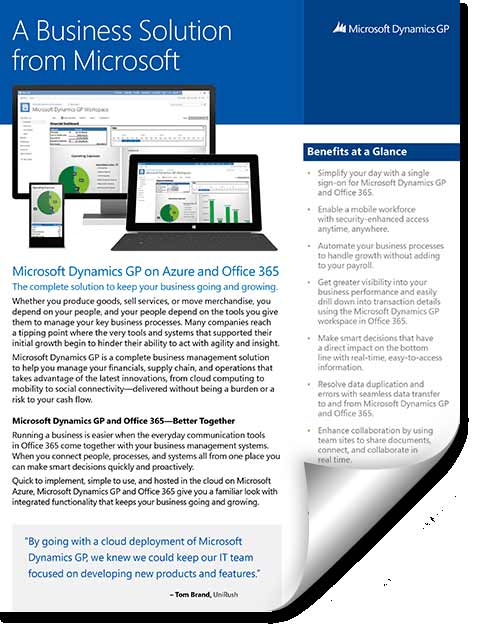 factsheet-dynamics-gp-2015-O365-AzureEDITED What's new in Microsoft Dynamics GP 2015?