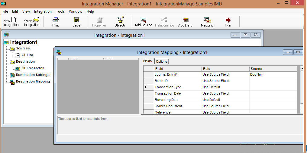 mapping Getting Started with Microsoft Dynamics GP Integration Manager